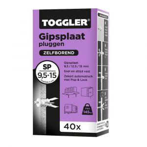 Toggler SP-40 gipsplaatplug SP doos 40 stuks gipsplaat 9-15 mm - Y32650002 - afbeelding 1