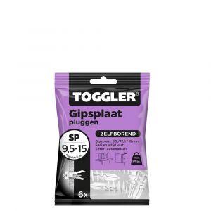 Toggler SP-6 gipsplaatplug SP zak 6 stuks gipsplaat 9-15 mm - Y32650000 - afbeelding 1