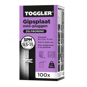 Toggler SPM-100 gipsplaatplug SP-Mini doos 100 stuks gipsplaat 9-15 mm - Y32650005 - afbeelding 1
