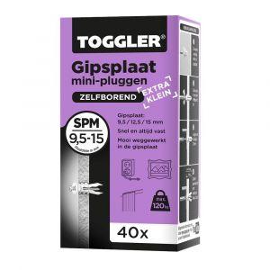 Toggler SPM-40 gipsplaatplug SP-Mini doos 40 stuks gipsplaat 9-15 mm - Y32650006 - afbeelding 1