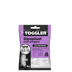Toggler SPM-6 gipsplaatplug SP-Mini zak 6 stuks gipsplaat 9-15 mm - Y32650004 - afbeelding 1
