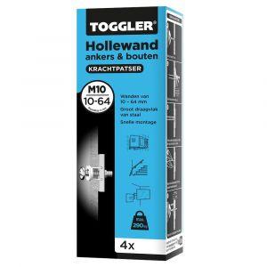 Toggler M10-4-bout hollewandanker M10 met bout doos 4 stuks plaatdikte 10-64 mm - Y32650034 - afbeelding 1