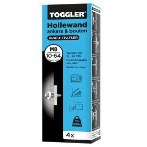Toggler M8-4-bout hollewandanker M8 met bout doos 4 stuks plaatdikte 10-64 mm - Y32650044 - afbeelding 1