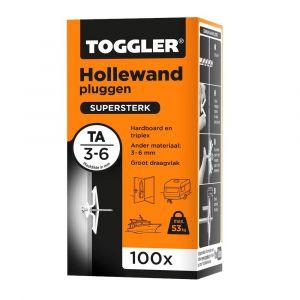 Toggler TA-100 hollewandplug TA doos 100 stuks plaatdikte 3-6 mm - Y32650021 - afbeelding 1