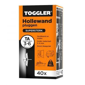 Toggler TA-40 hollewandplug TA doos 40 stuks plaatdikte 3-6 mm - Y32650022 - afbeelding 1
