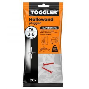 Toggler TA-20 hollewandplug TA zak 20 stuks plaatdikte 3-6 mm - Y32650023 - afbeelding 1