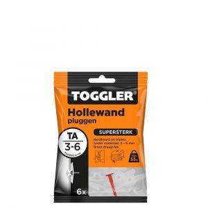 Toggler TA-6 hollewandplug TA zak 6 stuks plaatdikte 3-6 mm - Y32650020 - afbeelding 1