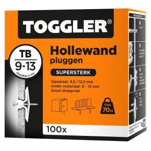 Toggler TB-100 hollewandplug TB doos 100 stuks plaatdikte 9-13 mm - Y32650011 - afbeelding 1