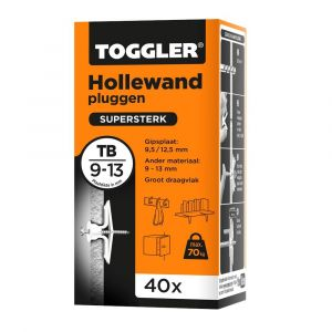 Toggler TB-40 hollewandplug TB doos 40 stuks plaatdikte 9-13 mm - Y32650012 - afbeelding 1
