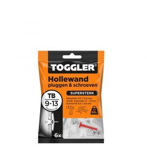 Toggler TB-6-schroef hollewandplug TB met schroef zak 6 stuks plaatdikte 9-13 mm - Y32650024 - afbeelding 1