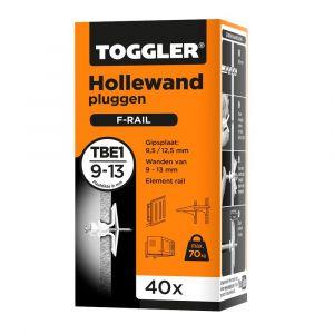 Toggler TBE-1-40 hollewandplug TBE1 doos 40 stuks plaatdikte 9-13 mm - Y32650015 - afbeelding 1
