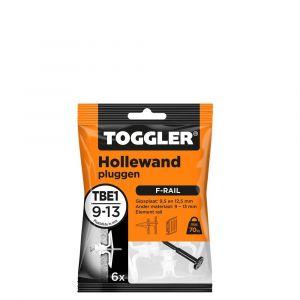 Toggler TBE-1-6 hollewandplug TBE1 voor F-rail zak 6 stuks plaatdikte 9-13 mm - Y32650014 - afbeelding 1