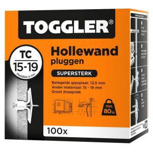 Toggler TC-100 hollewandplug TC doos 100 stuks plaatdikte 15-19 mm - Y32650017 - afbeelding 1