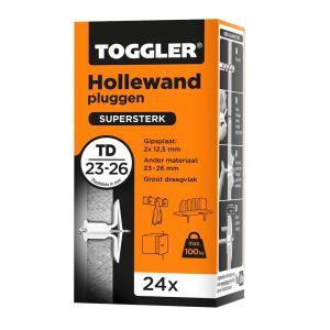 Toggler TD-24 hollewandplug TD doos 24 stuks plaatdikte 23-26 mm - Y32650028 - afbeelding 1