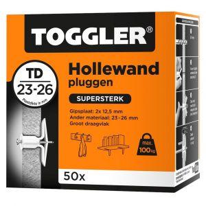 Toggler TD-50 DS hollewandplug TD doos 50 stuks plaatdikte 23-26 mm - Y32650027 - afbeelding 1