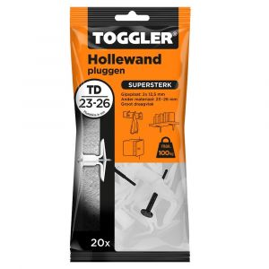 Toggler TD-20 hollewandplug TD zak 20 stuks plaatdikte 23-26 mm - Y32650029 - afbeelding 1