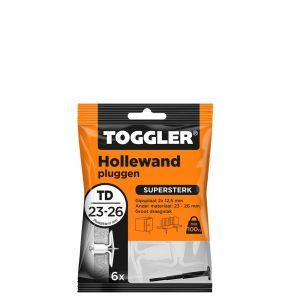 Toggler TD-6 hollewandplug TD zak 6 stuks plaatdikte 23-26 mm - Y32650026 - afbeelding 1