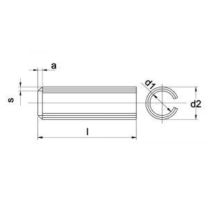 Kobout 41481A2 spanhuls zware uitvoering DIN 1481 (ISO 8752) RVS AISI 301 1.4310 6x50 mm - A50457260 - afbeelding 1