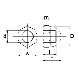 Kobout 41587MB dopmoer DIN 1587 messing blank M3 - A50457449 - afbeelding 1