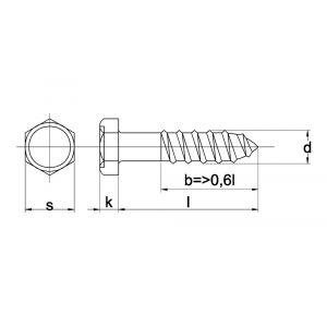 Kobout 1571EV houtdraadbout DIN 571 4.8 galvanisch verzinkt 5x20 mm - Y50454230 - afbeelding 1