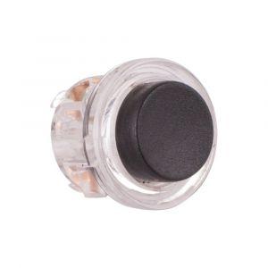GPF bouwbeslag AG0390 beldrukker button zwart - A16000255 - afbeelding 1