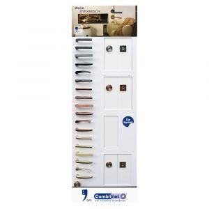 GPF bouwbeslag ARVI93001000 presentatie GPF CombiVari wanddisplay PVD - A16007165 - afbeelding 1