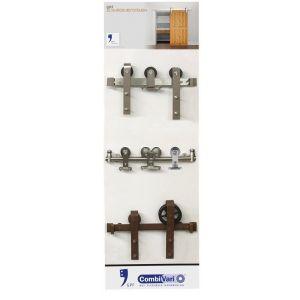 GPF bouwbeslag ARVI93005010 presentatie GPF CombiVari wanddisplay schuifdeursystemen RVS-roest - A16007167 - afbeelding 1