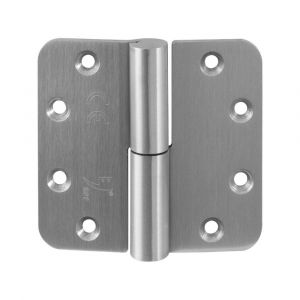 GPF bouwbeslag 00351.09 GPF paumelle 89x96 mm DIN links ronde hoek draagvermogen 2 stuks 80 kg hardstalen kogel RVS geborsteld - A16000111 - afbeelding 1