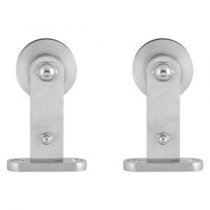 GPF bouwbeslag 0512.09 schuifdeurhanger set Kiva voor extra deur RVS geborsteld - A16006646 - afbeelding 1