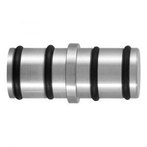GPF bouwbeslag 0587.09 koppelstuk ronde rail voor schuifdeursysteem RVS geborsteld - A16006614 - afbeelding 1