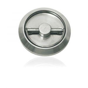 GPF bouwbeslag 0702.09 ringgreep komdeurkruk 75x17 mm recht RVS geborsteld - A16003776 - afbeelding 1