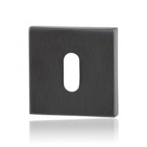 GPF bouwbeslag 0901.02P1 sleutelrozet vierkant 50x50x8 mm PVD antraciet - A16004589 - afbeelding 1
