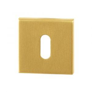 GPF bouwbeslag 0901.02P4 sleutelrozet vierkant 50x50x8 mm PVD messing satin - A16004590 - afbeelding 1