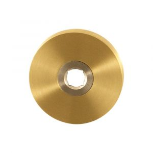 GPF bouwbeslag 1100.00P4 rond click rozet 50x8 mm PVD messing satin - A16004473 - afbeelding 1