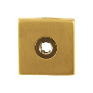 GPF bouwbeslag 1100.02P4 vierkant click rozet 50x50x8 mm PVD messing satin - A16004484 - afbeelding 1