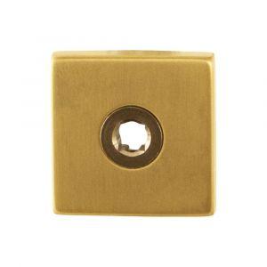 GPF bouwbeslag 1100.02P4R vierkant click rozet 50x50x8 mm rechts PVD messing satin - A16004486 - afbeelding 1