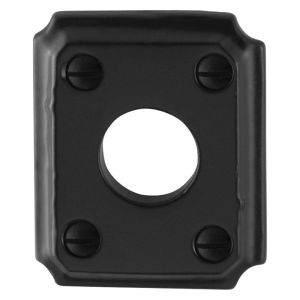 GPF bouwbeslag 6100.02L/R rozet rechthoekig 59x48x6 mm links-rechts smeedijzer zwart - A16004458 - afbeelding 1