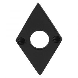 GPF bouwbeslag 6100.07L/R rozet ruit 83x52x4 mm links-rechts smeedijzer zwart - A16004464 - afbeelding 1