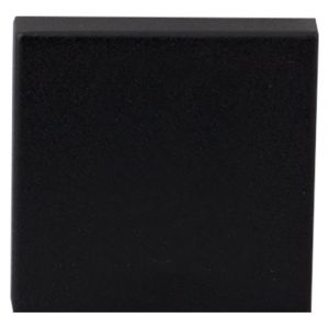 GPF bouwbeslag 8812.61 vierkant veiligheids buitenrozet SKG*** blind zwart - A16005987 - afbeelding 1