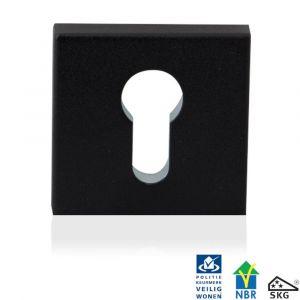 GPF bouwbeslag 8814.61 vierkant veiligheids binnenrozet SKG*** zwart - A16005991 - afbeelding 1