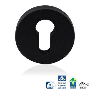 GPF bouwbeslag 8818.61 rond veiligheids buitenrozet SKG*** zwart - A16005999 - afbeelding 1