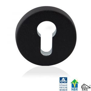 GPF bouwbeslag 8819.61 rond veiligheids binnenrozet SKG*** zwart - A16006001 - afbeelding 1