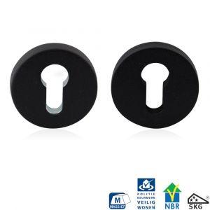 GPF bouwbeslag 8820.61 rond veiligheids rozet 55x10 mm SKG*** zwart - A16006003 - afbeelding 1
