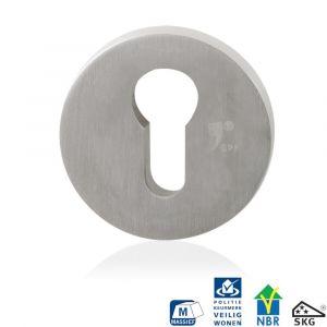 GPF bouwbeslag 9280.09 rond veiligheids buitenrozet SKG*** RVS geborsteld - A16006007 - afbeelding 1