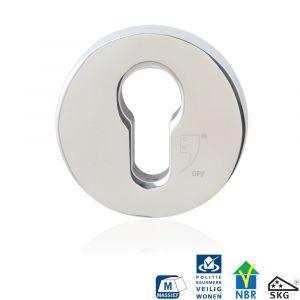 GPF bouwbeslag 9280.49 rond veiligheids buitenrozet SKG*** RVS gepolijst - A16006008 - afbeelding 1