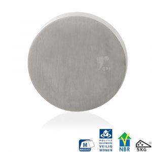 GPF bouwbeslag 9282.09 rond veiligheids buitenrozet SKG*** blind RVS geborsteld - A16006011 - afbeelding 1