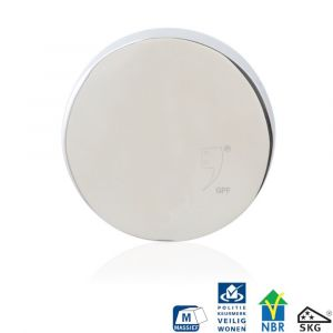 GPF bouwbeslag 9282.49 rond veiligheids buitenrozet SKG*** blind RVS gepolijst - A16006012 - afbeelding 1