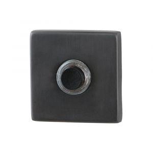 GPF bouwbeslag 9826.02P1 beldrukker vierkant 50x50x8 mm met zwarte button PVD antraciet - A16000268 - afbeelding 1
