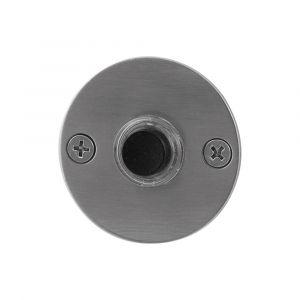 GPF bouwbeslag 9826.06 beldrukker rond 50x2 mm met zwarte button RVS geborsteld - A16000274 - afbeelding 1