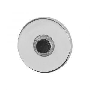 GPF bouwbeslag 9826.45 beldrukker rond 50x6 mm met zwarte button RVS gepolijst - A16000283 - afbeelding 1